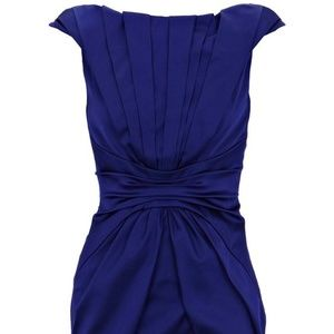 Satin Blue Karen Millen Formal Dress